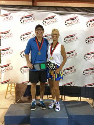 Huntsman Senior Games Gold Mixed Doubles with Mike Stahl