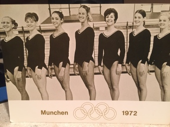 1972 Olympic gymnastics team - Roxanne is the tall one in the middle