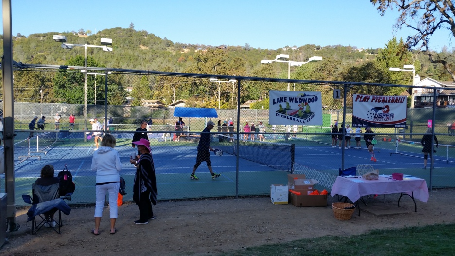 Tournament action on the courts