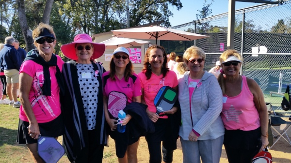 Pickleball Gals at the Go Pink and Dink Tournament