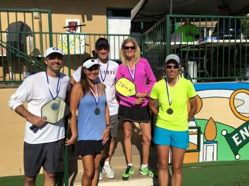 Mixed Doubles 35+ Gold: Kris Anderson/Kevin Booth Silver: Jennifer Dawson/ David Lecours Bronze: GeeGee Garvin/ Mike Gates (Missing)