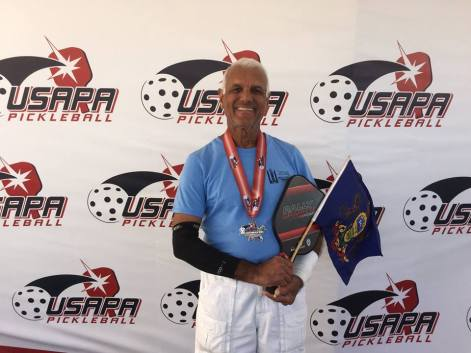 Pothen Varughese winning silver in the Men's 80+ at Nationals!