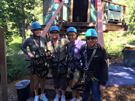 Gigi LeMaster, Melissa McCurley, Gail Dacey and Dennis Dacey before the great treetop adventure!