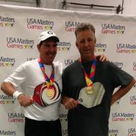 Steve Kennedy and Charles Rose win Gold in Men's Doubles, USA Masters Games