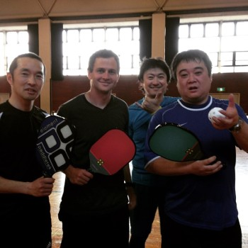 Daniel and Japanese pickleball players