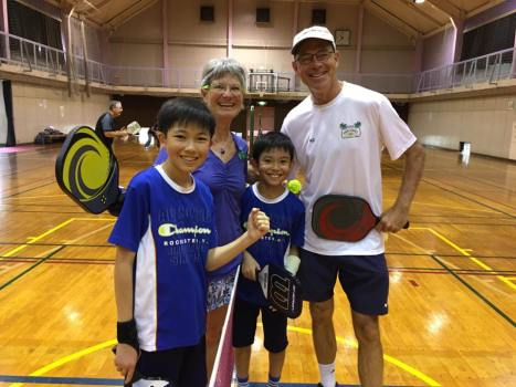 Pickleball players of all ages in Japan