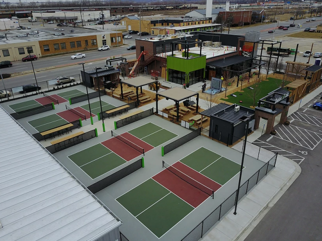 The Chicken N Pickle outdoor courts duting construction