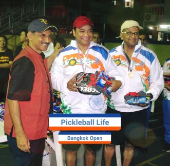 playing pickleball in Bangkok, Thailand.