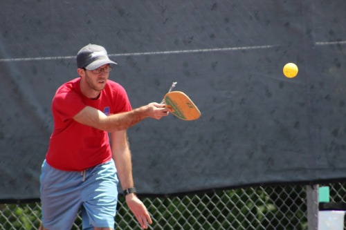 Playing pickleball at the MS State Games