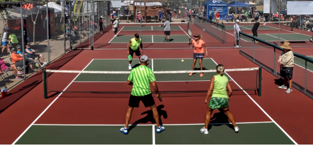 Pickleball at the net