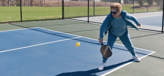Punching a pickleball