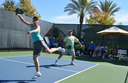 Leaping for pickleball