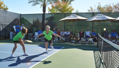Pickleball in center court