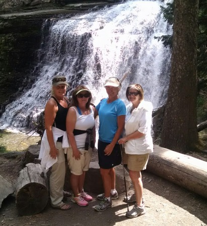 girls at ousel falls