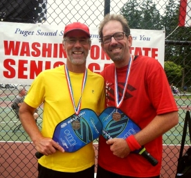 Glen Peterson and Ken Crocker, Silver - 2016 WA State Senior Games