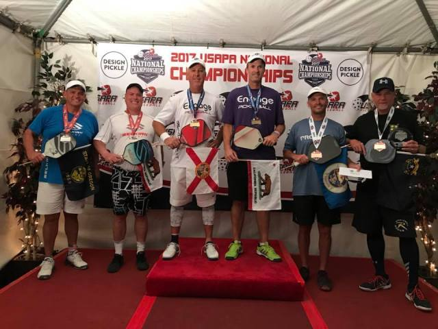 USAPA Senior Men's Open - BRONZE- Del Kauss-Steve Cole. SILVER- Tony Tallengar-Mike Gates GOLD Scott Burr Steve Kennedy