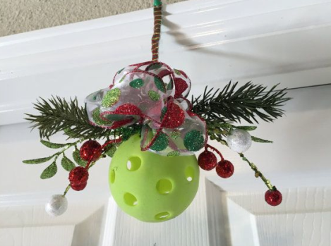 Pickleball Mistletoe
