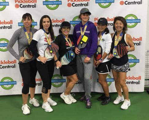 Pickleball Station 5.0 tournament: Lynn Syler, Tonja Major - Silver, Irene Mah/Irina Tereschenko GOLD, Takako Tourangeau and Miok Lee - Bronze