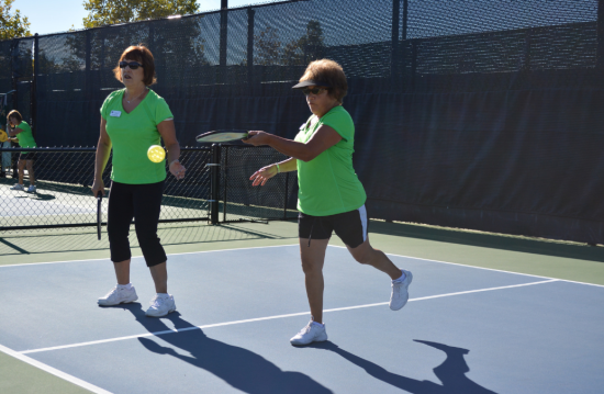 Pickleball near the kitchen