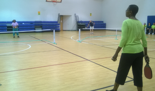 Pickleball serving