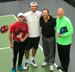 Playing with Sergio Garcia and ex tennis pro Amer Delic at a friends house in Austin