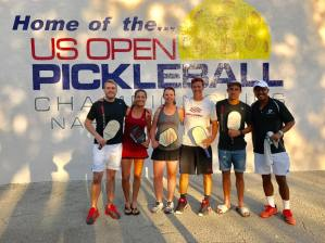 Jose Farias with friends at the USOPEN