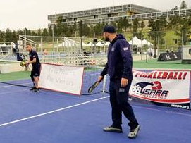 Warrior Games Playing Pickleball
