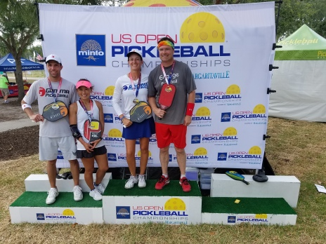 2018 US Open, Lucy Kitcher/Ty Petty, Over 40 Mixed Doubles - Gold