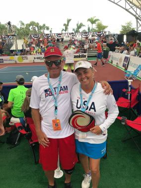 Team Paddletek buddies, Barry Waddel and Stephanie Shouse Lane