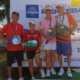 2019 US Open, Dan McLaughlin and Joann Russell - Bronze, Jim and Yvonne Hackenberg - Gold