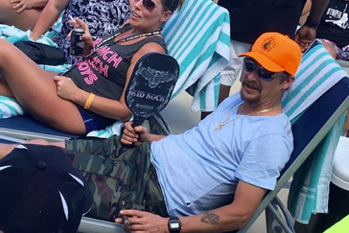 Kid Rock with pickleball paddle