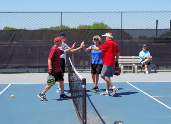 Pickleball high five