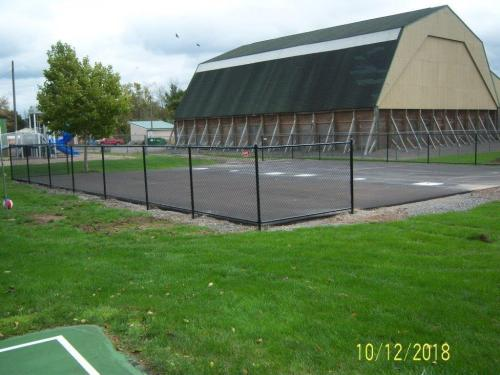 Finished fencing for the court
